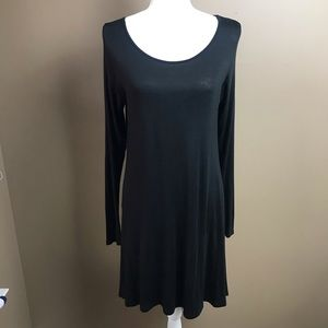 Miss Day Black Long Sleeve Dress Small Stretch